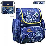 Школьный рюкзак Mike Mar Майк Мар Морской Корабль 1074-ММ-142 + мешок для обуви + пенал