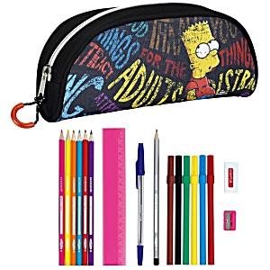 Школьный пенал с наполнением Safta The Simpsons Bart ST64403