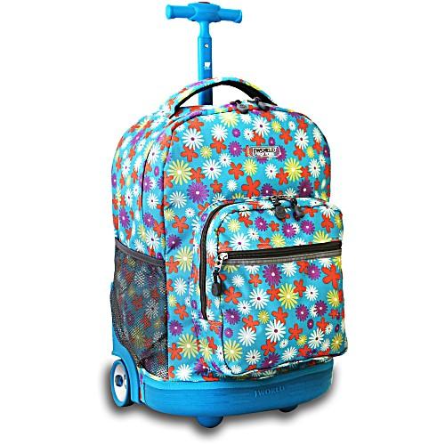 Универсальный школьный рюкзак на колесах JWORLD Sunrise арт. RBS18 Весна