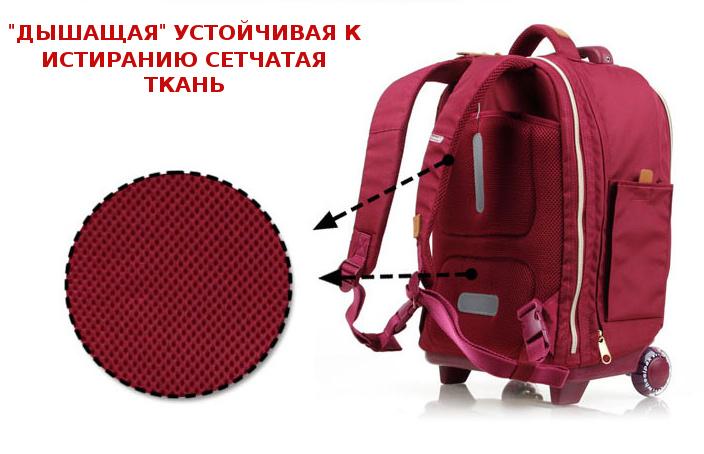 Школьный рюкзак на колесах - ранец Wheelpak Classic Navy - арт. WLP2201 (для 3-5 класса, 21 литр), - фото 13