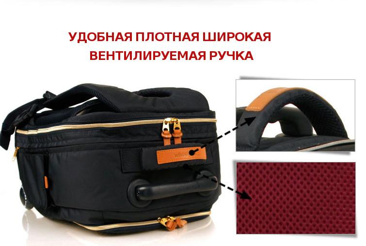 Школьный рюкзак на колесах - ранец Wheelpak Classic Navy - арт. WLP2201 (для 3-5 класса, 21 литр), - фото 11