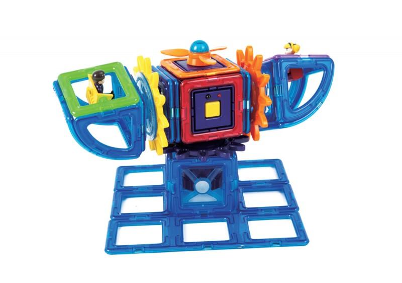 Магнитный конструктор Magformers Power Gear Set 60 деталей артикул 63114 + тетради, - фото 7