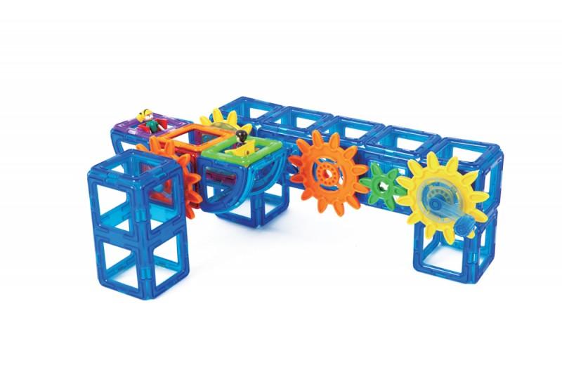 Магнитный конструктор Magformers Power Gear Set 60 деталей артикул 63114 + тетради, - фото 9