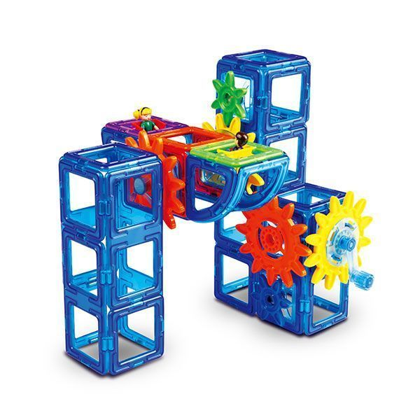 Магнитный конструктор Magformers Power Gear Set 60 деталей артикул 63114 + тетради, - фото 4