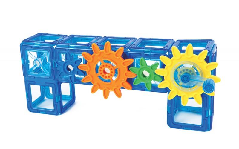 Магнитный конструктор Magformers Power Gear Set 60 деталей артикул 63114 + тетради, - фото 10