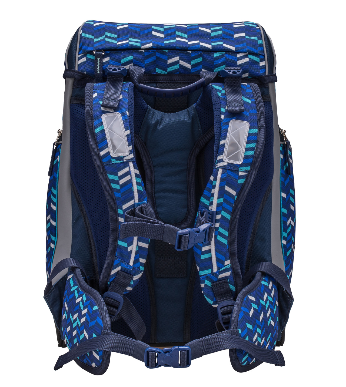 Ранец-рюкзак Belmil Comfy Pack 405-11/687 цвет Blue Mix + дождевик, - фото 3