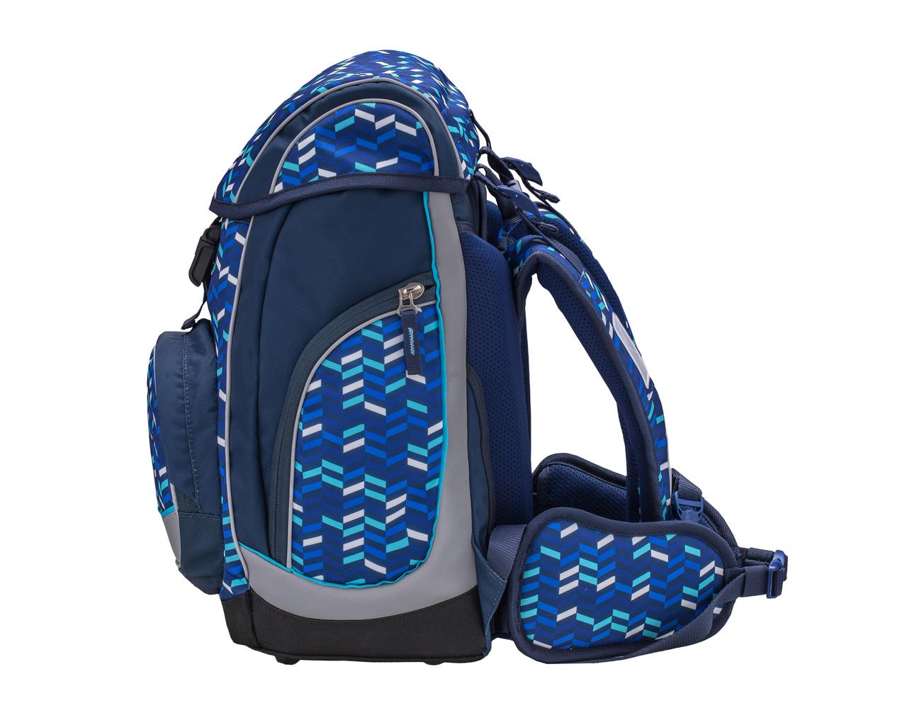 Ранец-рюкзак Belmil Comfy Pack 405-11/687 цвет Blue Mix + дождевик, - фото 5