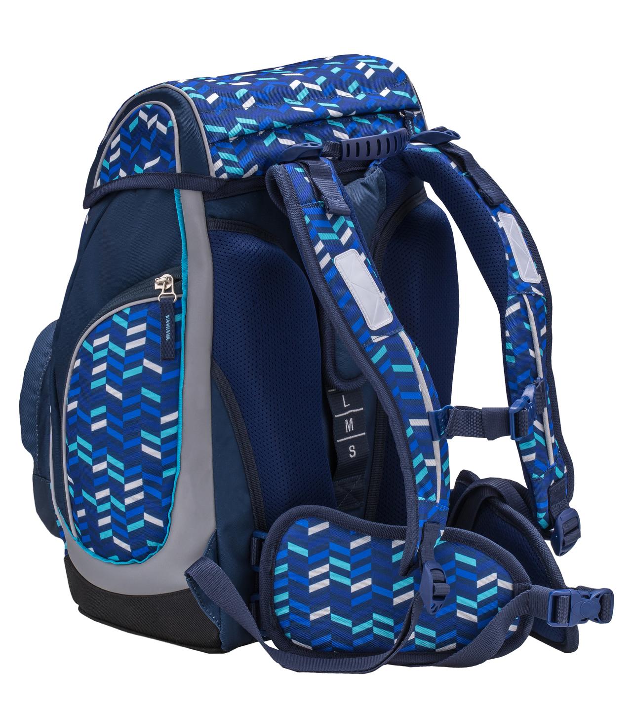 Ранец-рюкзак Belmil Comfy Pack 405-11/687 цвет Blue Mix + дождевик, - фото 4