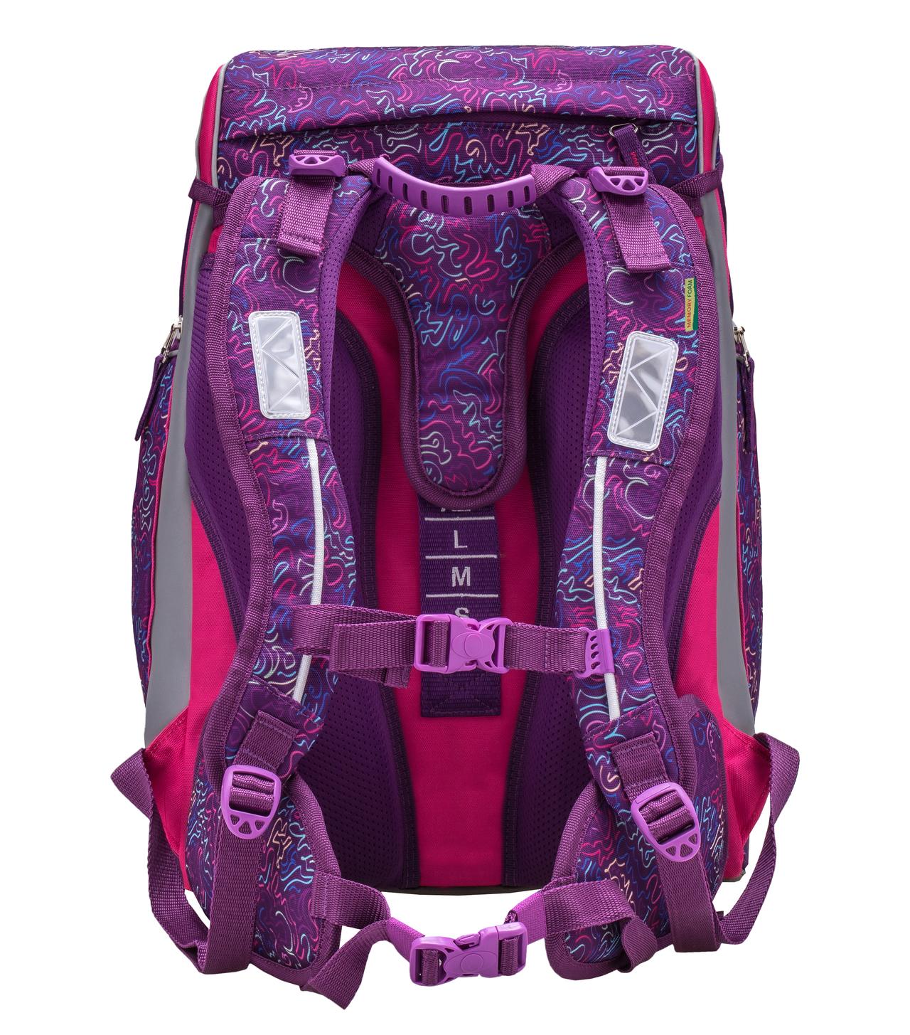 Ранец-рюкзак Belmil Comfy Pack 405-11/683 цвет Pink & Purple Harmony+ дождевик, - фото 5