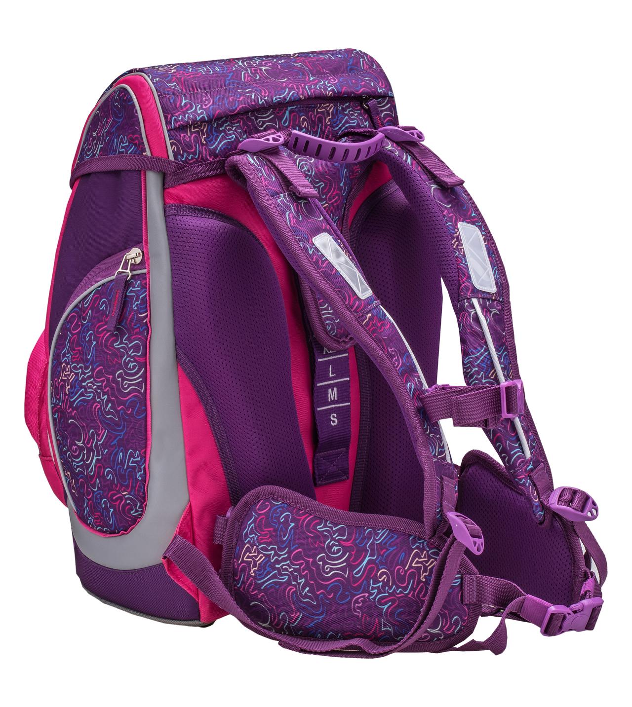 Ранец-рюкзак Belmil Comfy Pack 405-11/683 цвет Pink & Purple Harmony+ дождевик, - фото 4