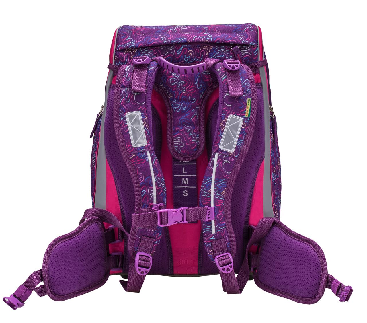 Ранец-рюкзак Belmil Comfy Pack 405-11/683 цвет Pink & Purple Harmony+ дождевик, - фото 6